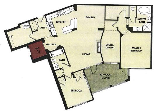 1,731 sq. ft. to 1,733 sq. ft. Bosque floor plan