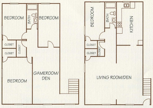 1,700 sq. ft. floor plan