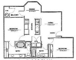 919 sq. ft. B1-Ph I floor plan