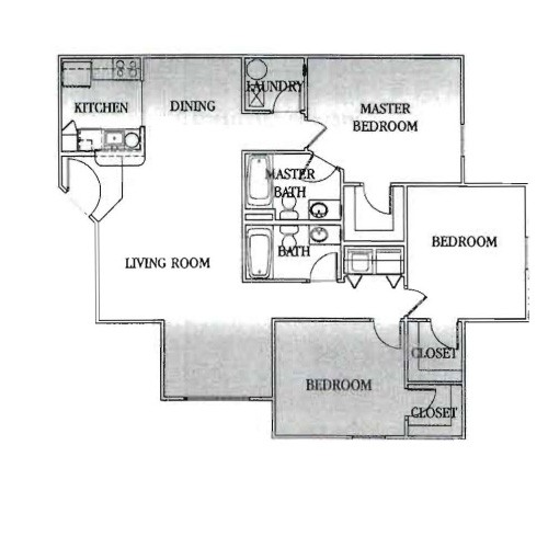 1,222 sq. ft. 30 floor plan