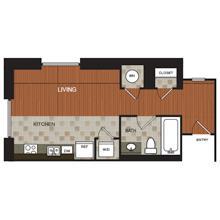 497 sq. ft. C4 floor plan