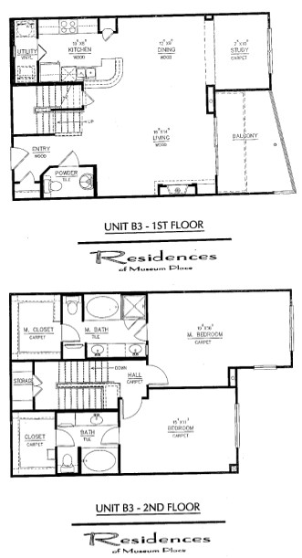 1,570 sq. ft. B3 floor plan