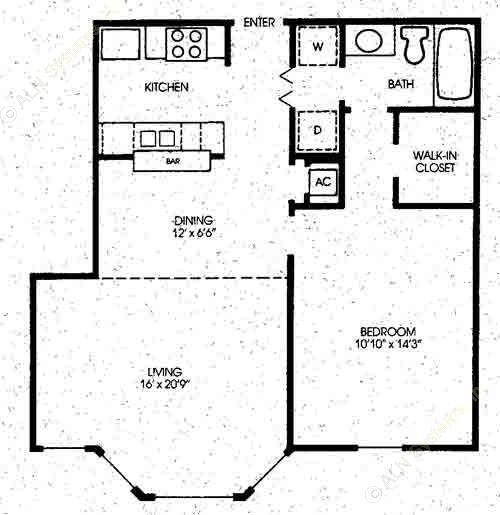 930 sq. ft. Maple - New floor plan