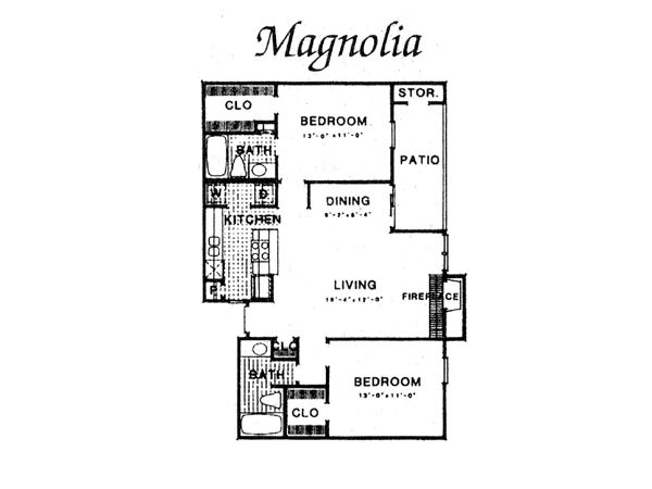 989 sq. ft. III B2 floor plan