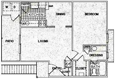 745 sq. ft. C floor plan