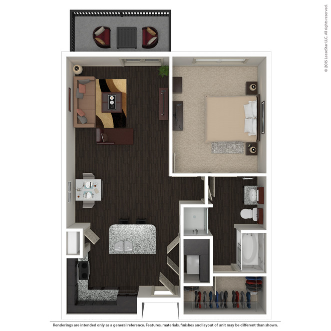 844 sq. ft. A3.3 floor plan