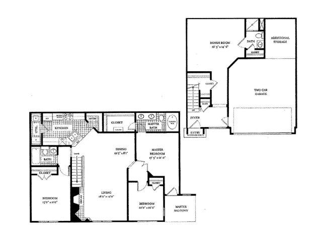 1,770 sq. ft. MONTE CARLO floor plan
