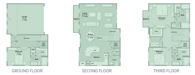 2,467 sq. ft. T2F floor plan