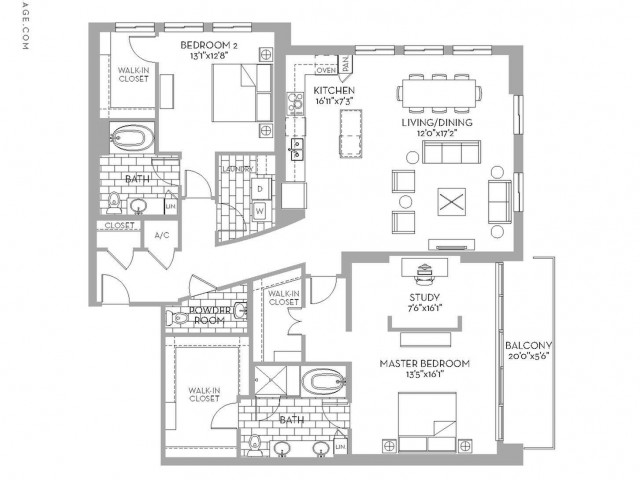 2,031 sq. ft. Preston(B.10) floor plan