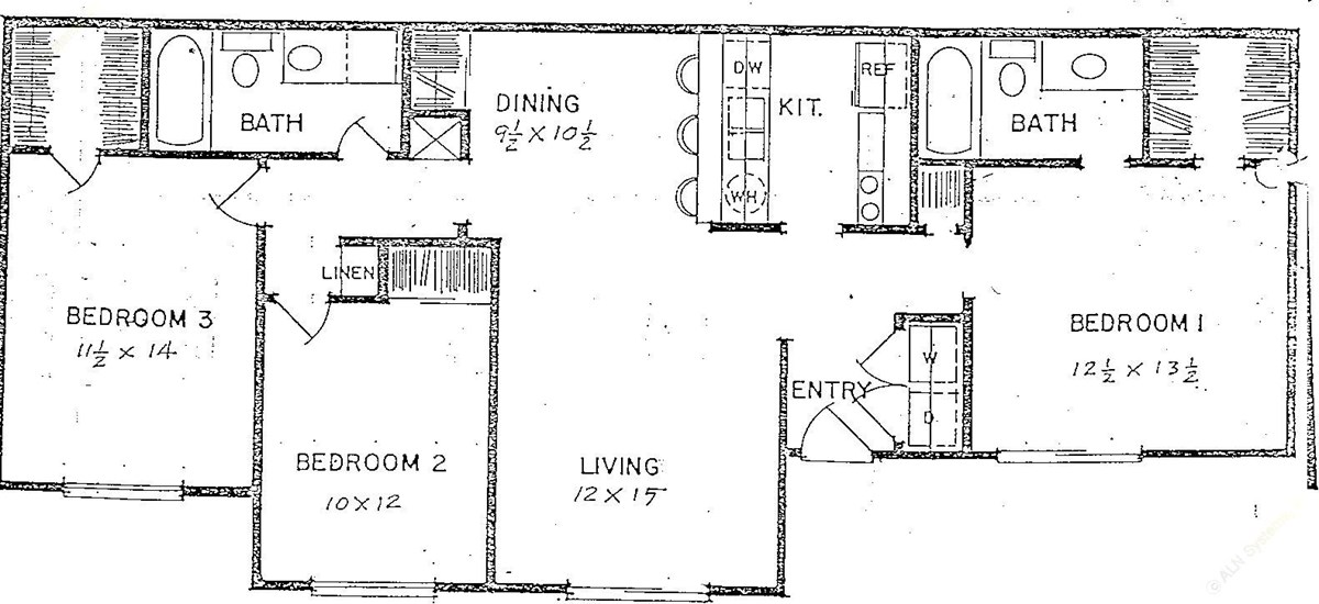 1,125 sq. ft. floor plan