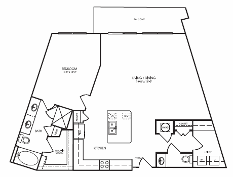 1,129 sq. ft. to 1,136 sq. ft. Lakeshire floor plan