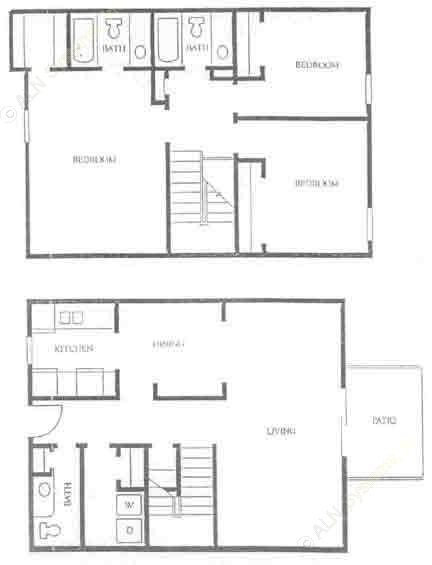 1,366 sq. ft. C-1 floor plan