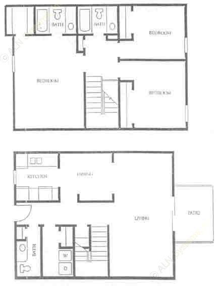 1,366 sq. ft. C-1 floor plan