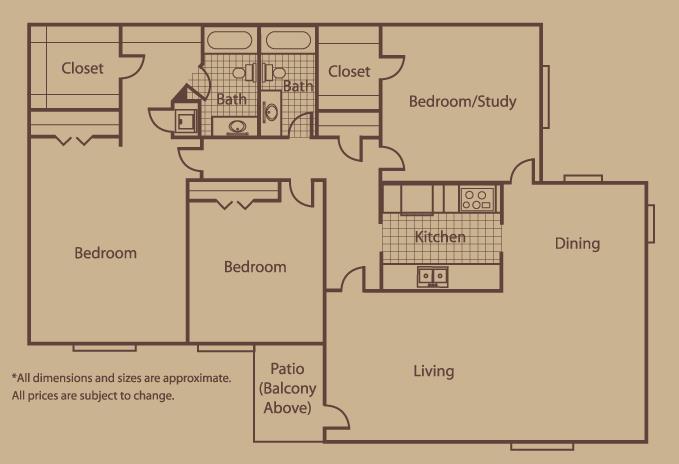 1,365 sq. ft. G floor plan