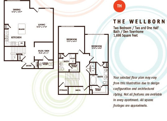 1,698 sq. ft. TH/Wellborn floor plan