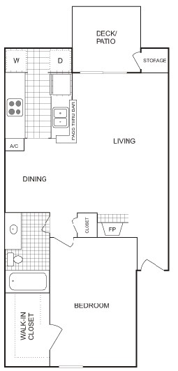 722 sq. ft. LARGE floor plan