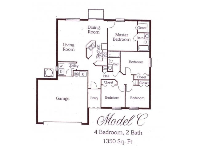 1,341 sq. ft. 60% floor plan