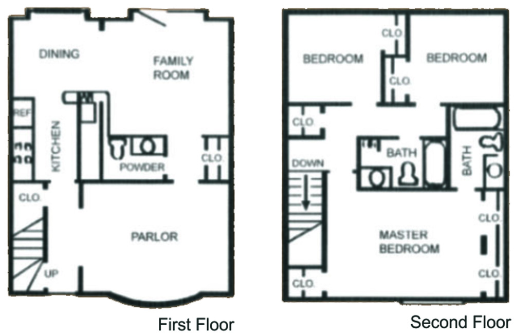 1,292 sq. ft. SC-1 floor plan
