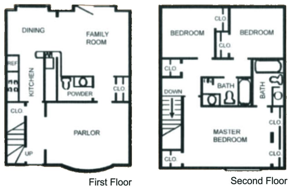 1,292 sq. ft. SC-1 floor plan