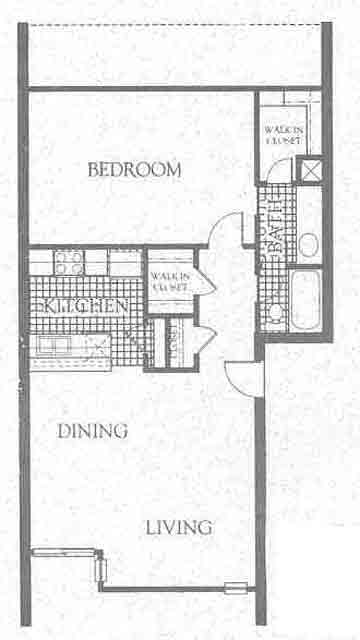 816 sq. ft. A2 floor plan