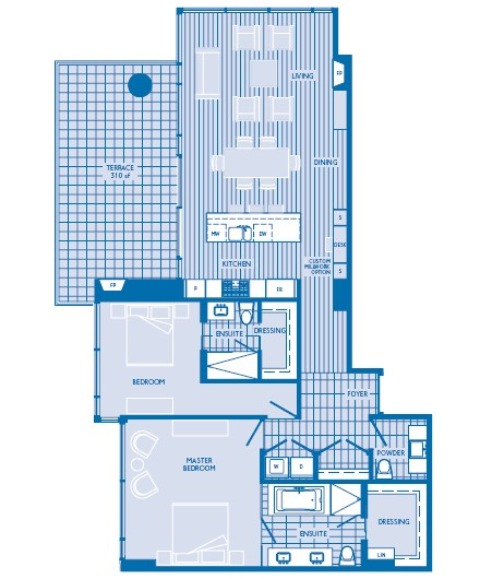 1,512 sq. ft. floor plan