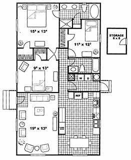 1,315 sq. ft. Baxter floor plan