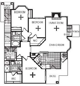 1,415 sq. ft. C2G floor plan