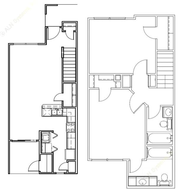 1,058 sq. ft. Colorado/Mkt floor plan