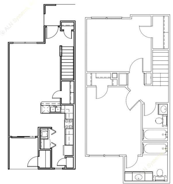1,058 sq. ft. Colorado/Mkt floor plan