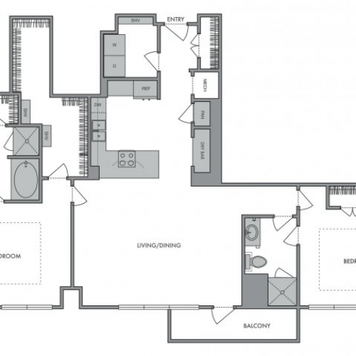 1,491 sq. ft. Q floor plan