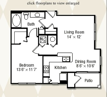 803 sq. ft. Aspen floor plan