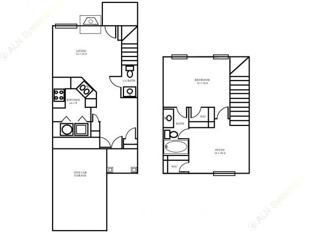 943 sq. ft. Edinburgh floor plan