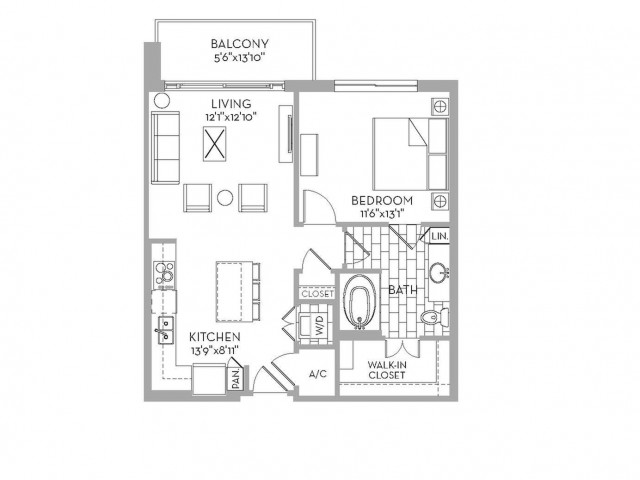 778 sq. ft. Douglas(A.1) floor plan