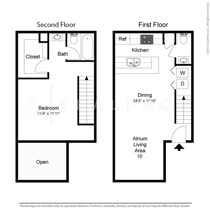 891 sq. ft. Samantha floor plan