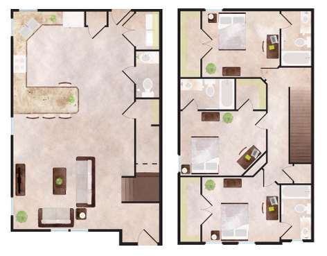 1,641 sq. ft. Telluride floor plan