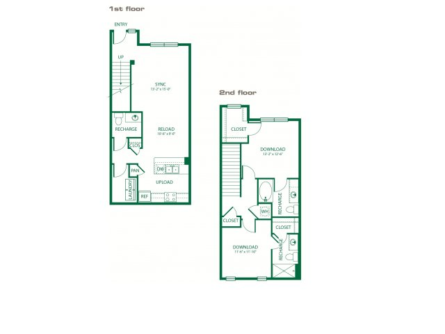 1,275 sq. ft. B4B Bluetooth floor plan