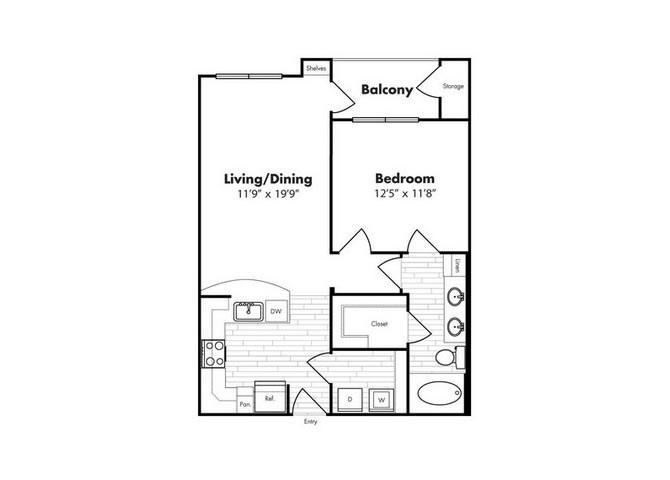 727 sq. ft. St Thomas floor plan