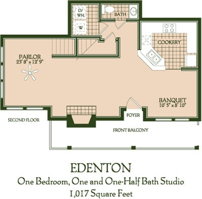 1,017 sq. ft. Edenton floor plan