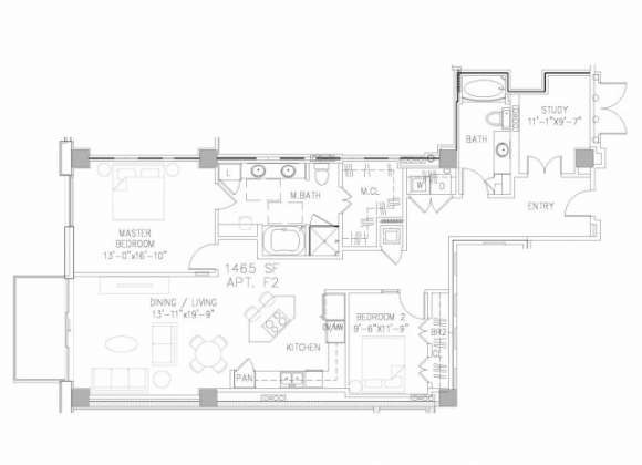 1,463 sq. ft. B7 floor plan