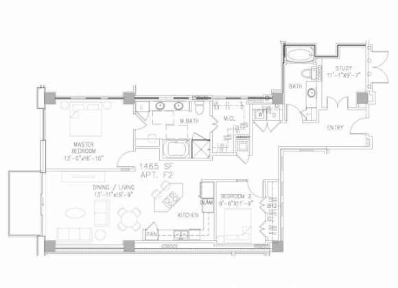 1,463 sq. ft. B7 floor plan