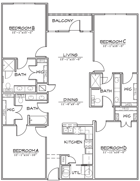 1,764 sq. ft. floor plan