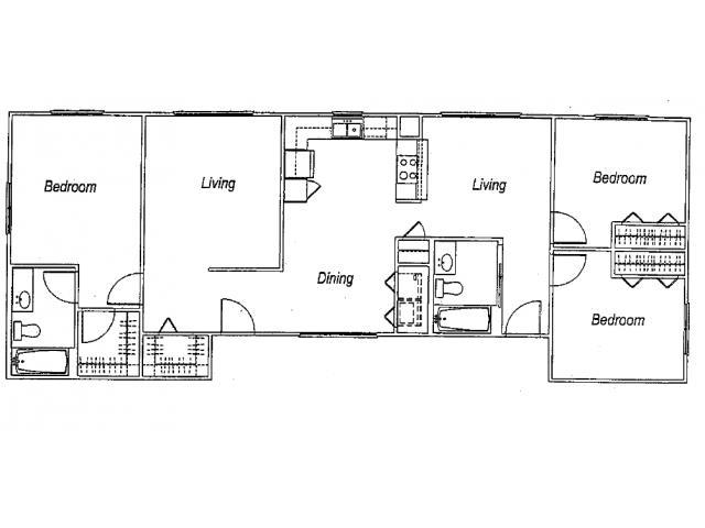 1,389 sq. ft. C1 floor plan
