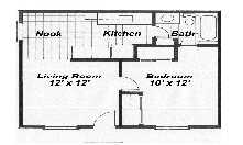 597 sq. ft. floor plan