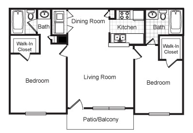 950 sq. ft. Gable floor plan