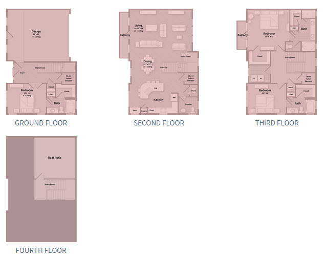 2,611 sq. ft. T2H floor plan