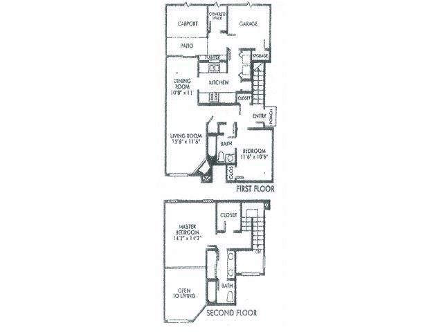 1,300 sq. ft. C floor plan