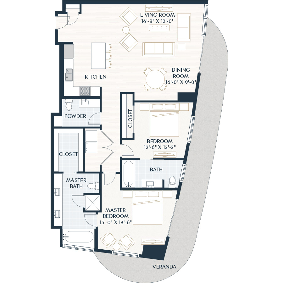 1,626 sq. ft. B5 floor plan