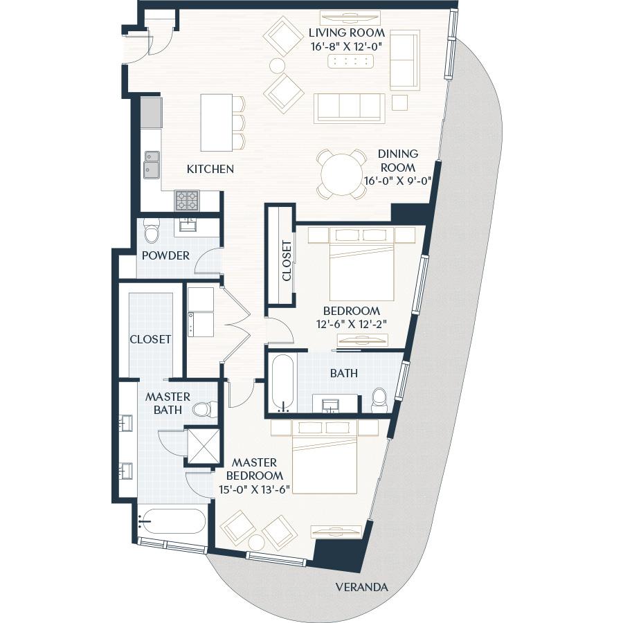 1,628 sq. ft. B5.1 floor plan