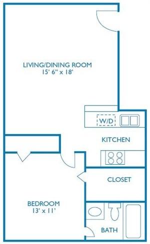 710 sq. ft. Banbury floor plan