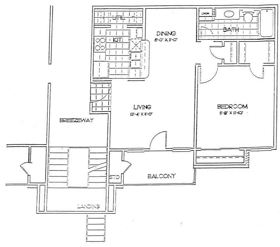658 sq. ft. KENSINGTON floor plan